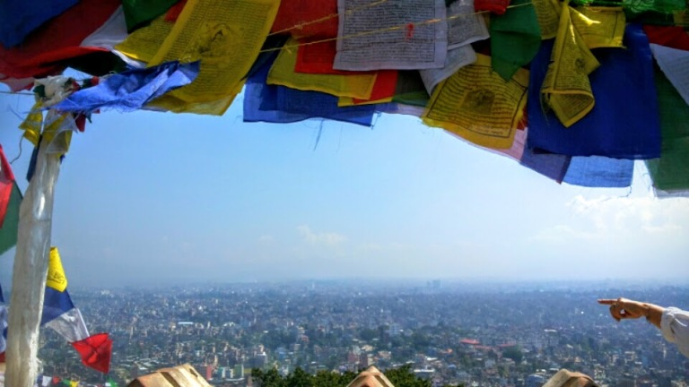 PRAYER FLAG VIEW